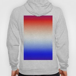 Red White and Blue Merging Gradient Pattern Hoody