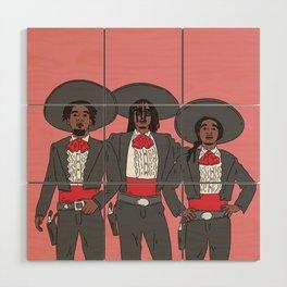 The Three Amigos Wood Wall Art
