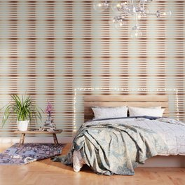 Simply Striped Deep Bronze Amber Wallpaper