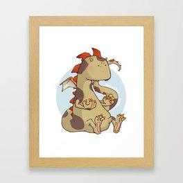 Negative Dragon light Framed Art Print