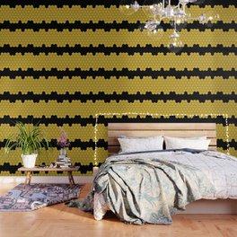 Honeycomb Black Wallpaper