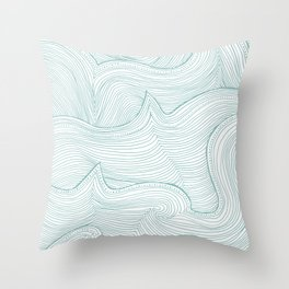 seafoam wave pattern Throw Pillow
