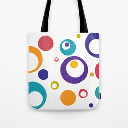 Circles Dots Bubbles :: Multicolored Tote Bag