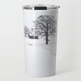 Rural Winter Landscape Travel Mug
