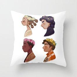 Flower set Throw Pillow