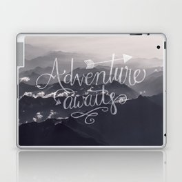 Adventure awaits Typography Gorgeous Mountain View Laptop & iPad Skin