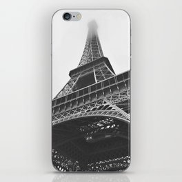 Eiffel Tower (Black and White) iPhone Skin