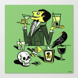 Drinks With The Mad Scientist Next Door Canvas Print