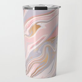 Marble and Gold 005 Travel Mug