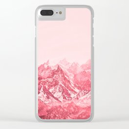 Mountains Red Clear iPhone Case