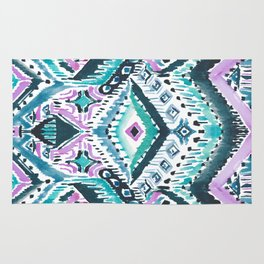 STAY WOKE Blue Tribal Rug