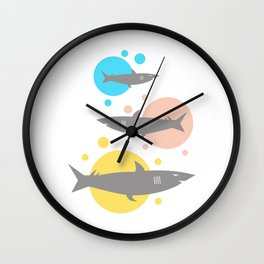 Shark #society6 #decor #buyart #artprint Wall Clock