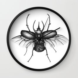 Beetle Wings Wall Clock