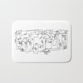 Whispering And Listening Bath Mat
