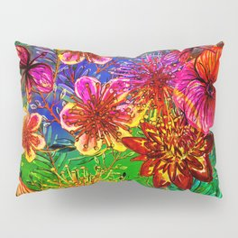 Tropical Heat-Colorful Floral Exotic Tropical Flower Pattern Pillow Sham