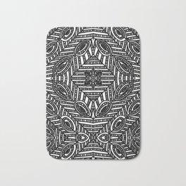 Tile Design Achromatic Bath Mat