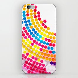 Colorful color Circle Dots Pattern for Girls iPhone Skin