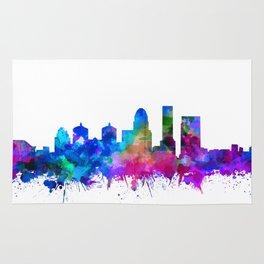 louisville skyline watercolor 2 Rug