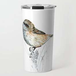 Mr Riroriro, the New Zealand Grey Warbler Travel Mug
