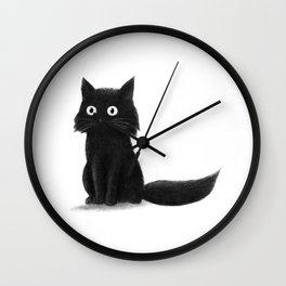 Sitting Cat (mono) Wall Clock