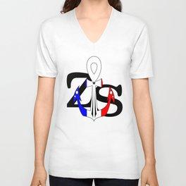 Zipcode Sailor French Anhkor Unisex V-Neck