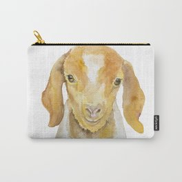 Nubian Goat Head Watercolor Carry-All Pouch
