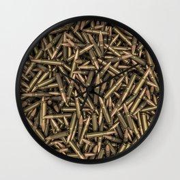 Rifle bullets Wall Clock