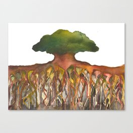Deep Roots of Mama Tree Canvas Print