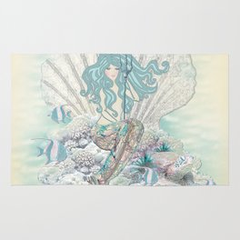 Anais Nin Mermaid [vintage inspired] Art Print Rug
