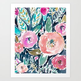 GARDENS OF CAPITOLA Watercolor Floral Art Print