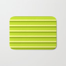 Lime Green Stripes Bath Mat