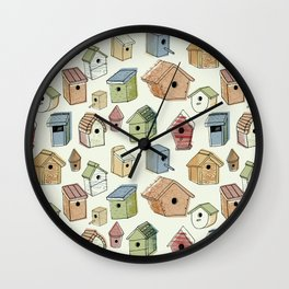 Bird Boxes Wall Clock