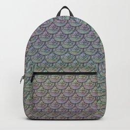 Silver Rainbow Mermaid Scales Backpack