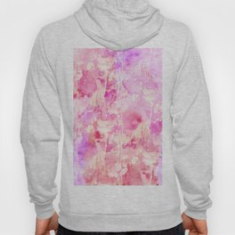 Girly Pink and Purple Painted Sparkly Watercolor Hoody