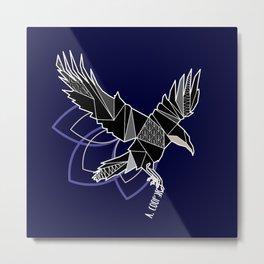 Geometric crow Metal Print