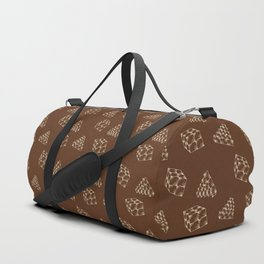 the pyramids and cubes on a brown background . illustration Duffle Bag