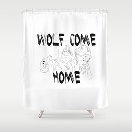 Wolves Come Home Shower Curtain