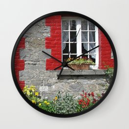 Cottage Window Wall Clock
