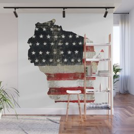 WISCONSIN FLAG Wall Mural