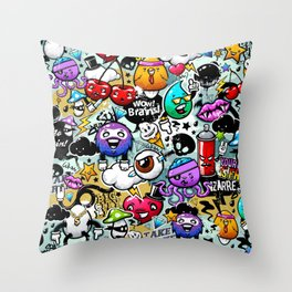 Bizarre Graffiti #1 Throw Pillow