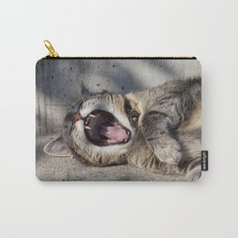 CAT - YAWNING - PHOTOGRAPHY - ANIMALS - CATS Carry-All Pouch