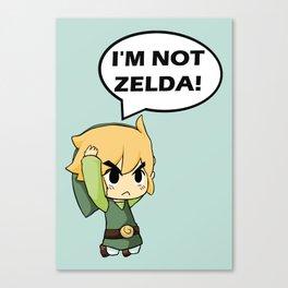 I'm not Zelda! (link from legend of zelda) Canvas Print