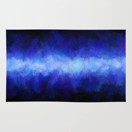 Blue Light Beam Rug