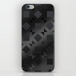 Pattern of squares and diamonds in black gradient iPhone Skin