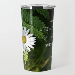 Clothed with Strength Travel Mug