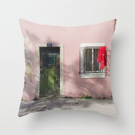 green and red Lisbon Throw Pillow