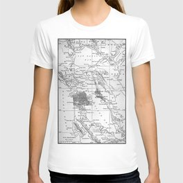 Vintage Map of San Francisco California (1905) T-shirt