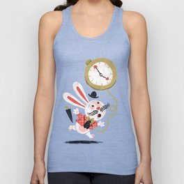 White Rabbit - Alice in Wonderland Unisex Tank Top