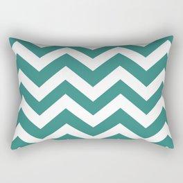 Celadon green - green color -  Zigzag Chevron Pattern Rectangular Pillow