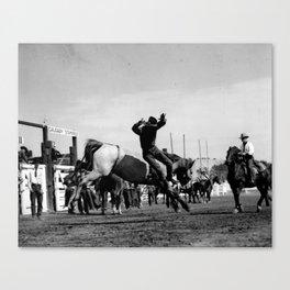 Rodeo Riders at the 1940 Calgary Stampede - Cow-boys de rodéo au Stampede de Calgary de 1940  Canvas Print